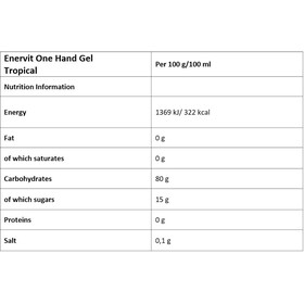 Enervit One Hand Gel Caja 6x12,5ml, tropical